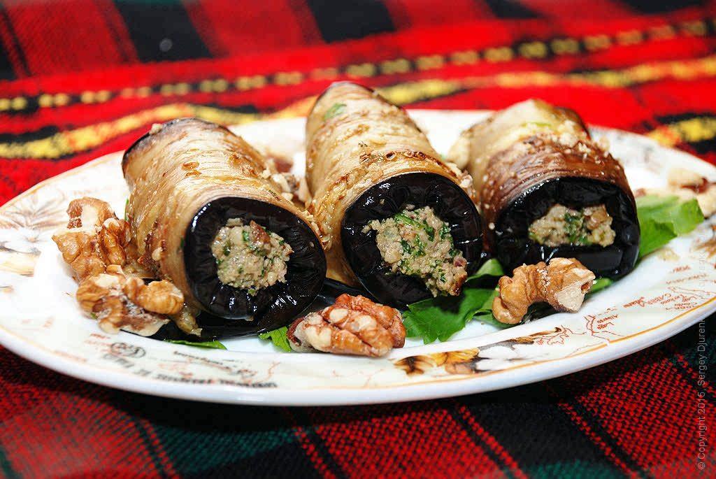 закуска из баклажанов с грецкими орехами